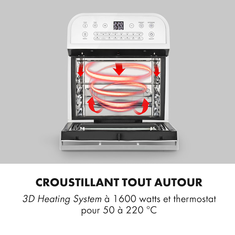 AeroVital Cube Friteuse à air chaud 12L 1600W 16 programmes - Blanc Blanc