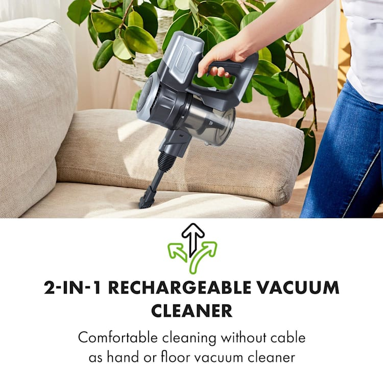 Clean Butler 4G Silent Cordless Vacuum Cleaner 16 kPa 0.8l HEPA10 Black Anthracite / Silver