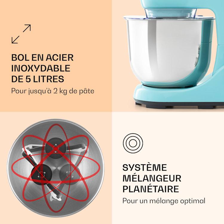 Bella Pico 2G Robot de cuisine 5 litres 6 vitesses  1200W - bleu Bleu