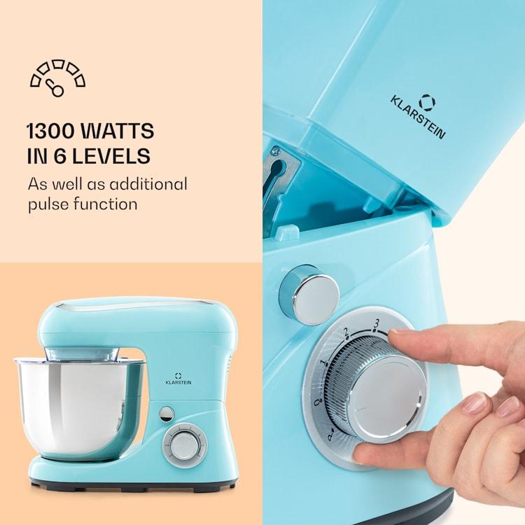 Bella Pico 2G Food Processor 1200W 1.6PS 6 Levels 5 litres Blue Blue