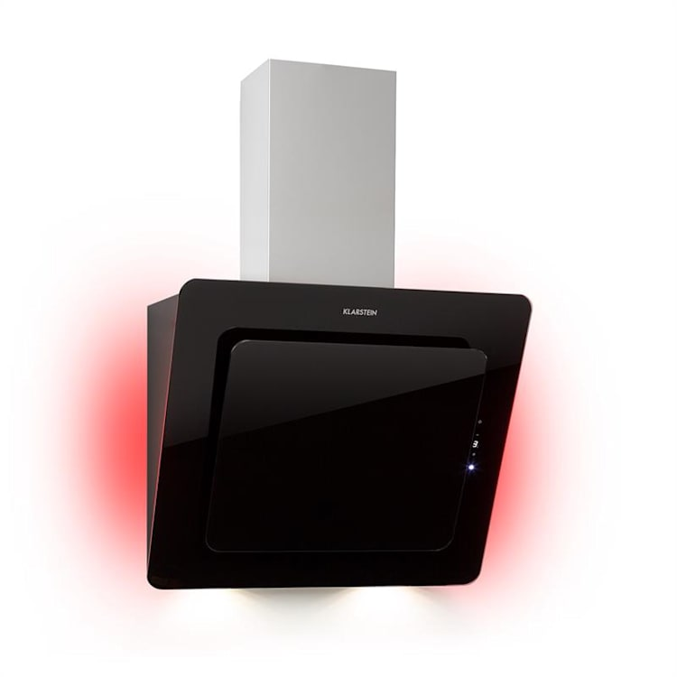 Helena 60, okap kuchenny, wyciąg,  595 m³/h, wyświetlacz LED, czarny Czarny | 60 cm
