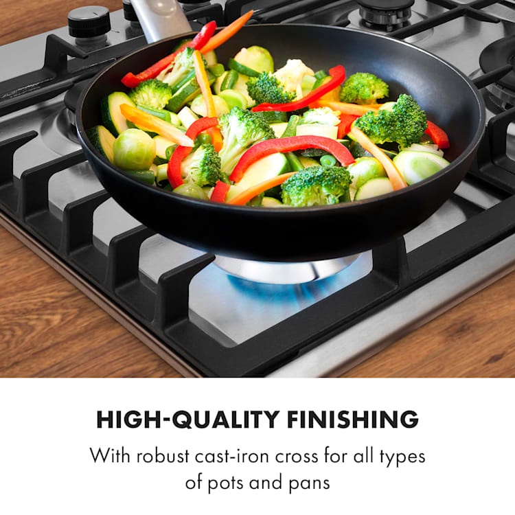 Ignito 4 Zones Gas Hob 4 Flames Sabaf Burner Stainless Steel Silver Silver | 4 burners