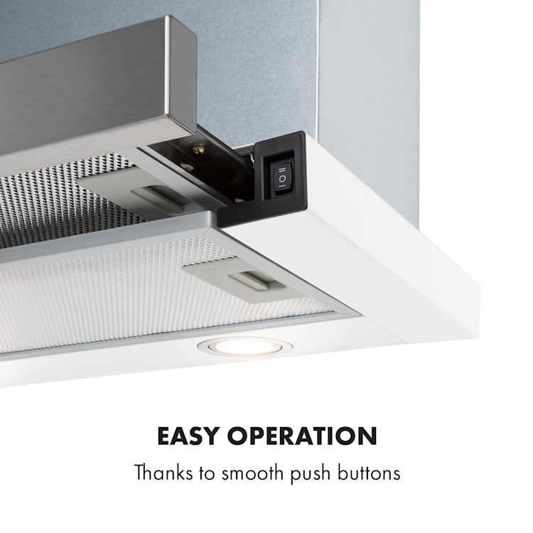 Mariana 60 Flat Screen Hood 500 m³ / h Exhaust Air LED White White