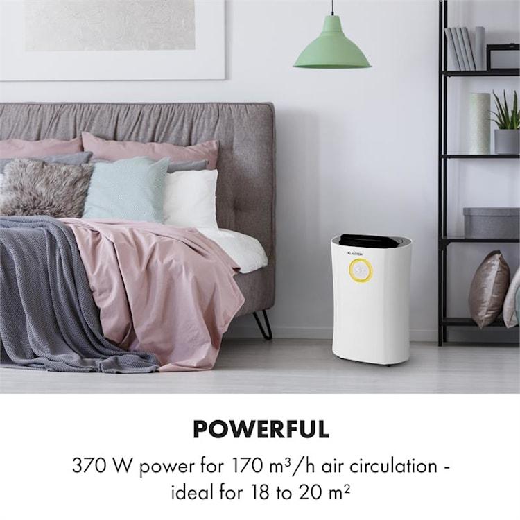 DryFy Pro Connect, razvlažilec zraka, WiFi, kompresija, 20 l/d, 20 m², 370 W, bel Bela