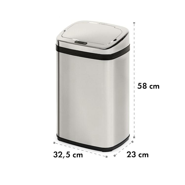 Cleansmann 30 Mülleimer Sensor 30 Liter für Müllbeutel ABS verchromt Silber | 30 Ltr