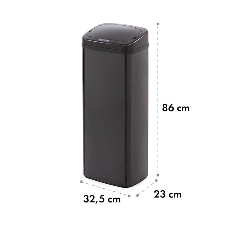 Cleansmann Mülleimer Sensor 50 Liter für Müllbeutel ABS / Edelstahl schwarz Schwarz   50 Ltr