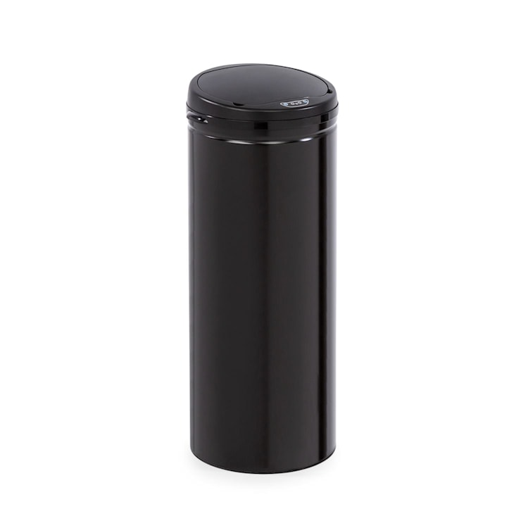 Cleanton Mülleimer rund Sensor 50 Liter für Müllbeutel ABS schwarz Schwarz