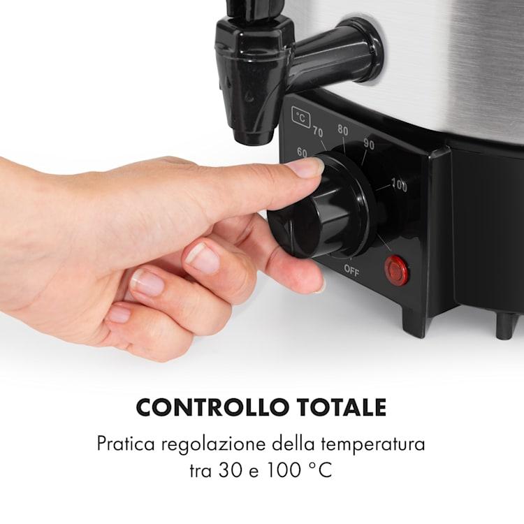Biggie Eco Pastorizzatore & Dispenser 1000W 30-100°C Rubinetto 9l