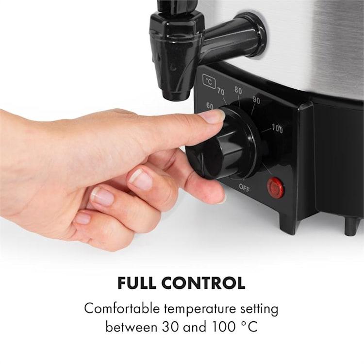 Biggie Eco, vas de gătit și distribuitor de băuturi, 1000 W, 30 - 100 °C, cu robinet, 9L