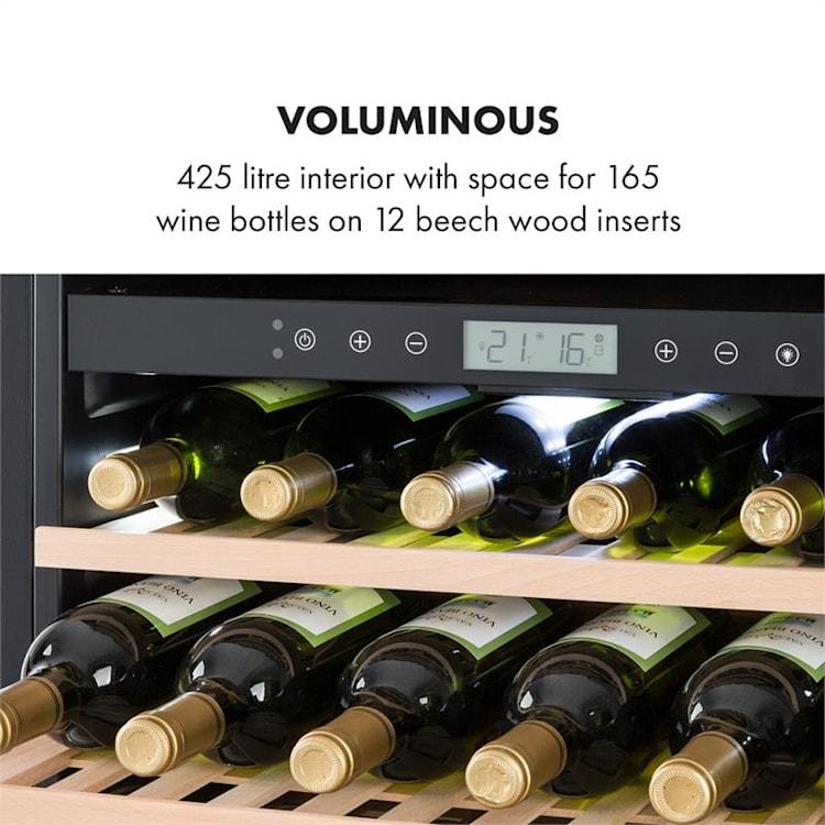 Vinovilla Onyx Grande Duo Cave à vins 425L / 165 bouteilles B - Noir