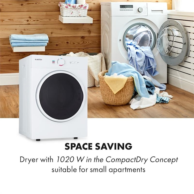 Jet Set secadora de ropa por salida de aire 1020W EEK C 3kg 50cm blanco Blanco