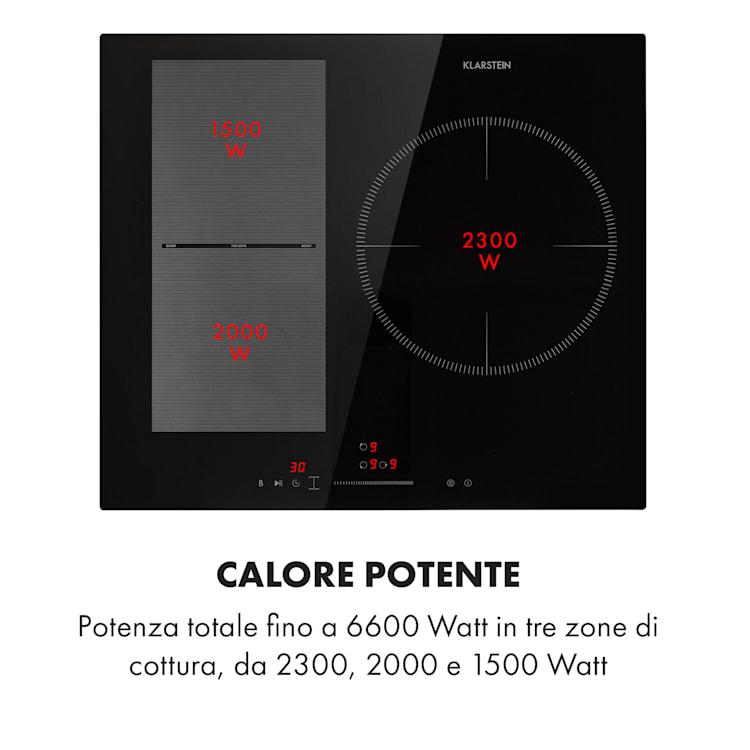 Delicatessa 3 Flex piano cottura a induzione 3 zone 6600W zona flex nero 3