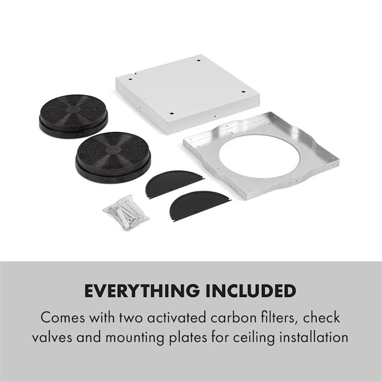 Tron Ambience, otočna kuhinjska napa, Ø 38 cm, recirkulacija 540 m³ / h, LED, črna  Črna