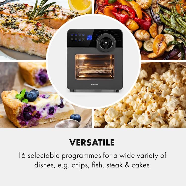 AeroVital Cube Chef, фритюрник с горещ въздух, 1700W, 14л, 16 програми, черен
