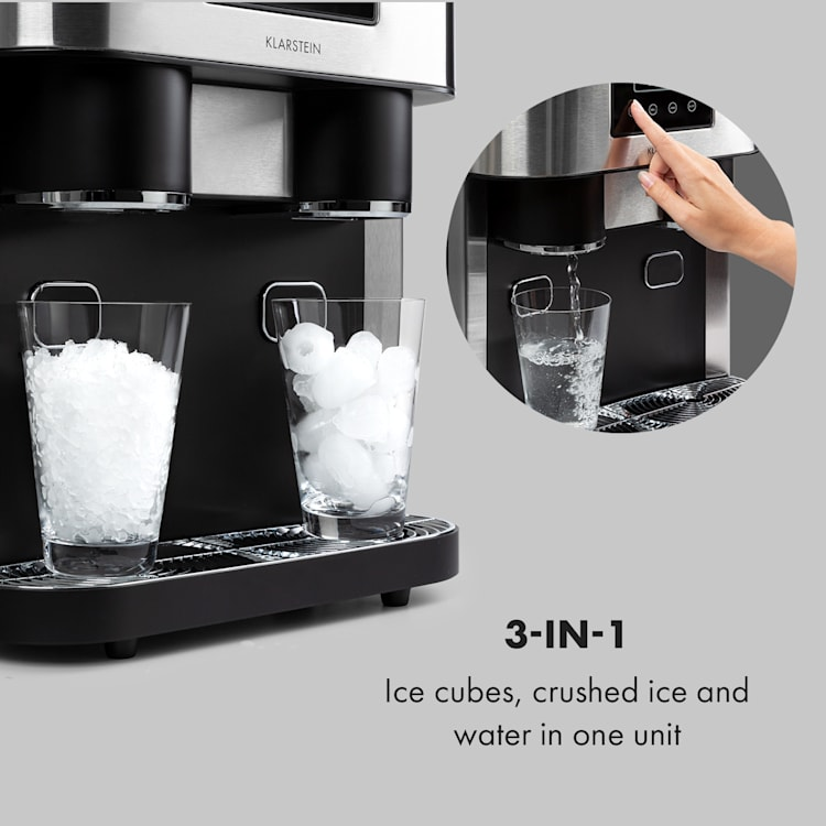 Ice Age Crush Ice Cube Machine 2 Sizes Crushed Ice Silver Silver