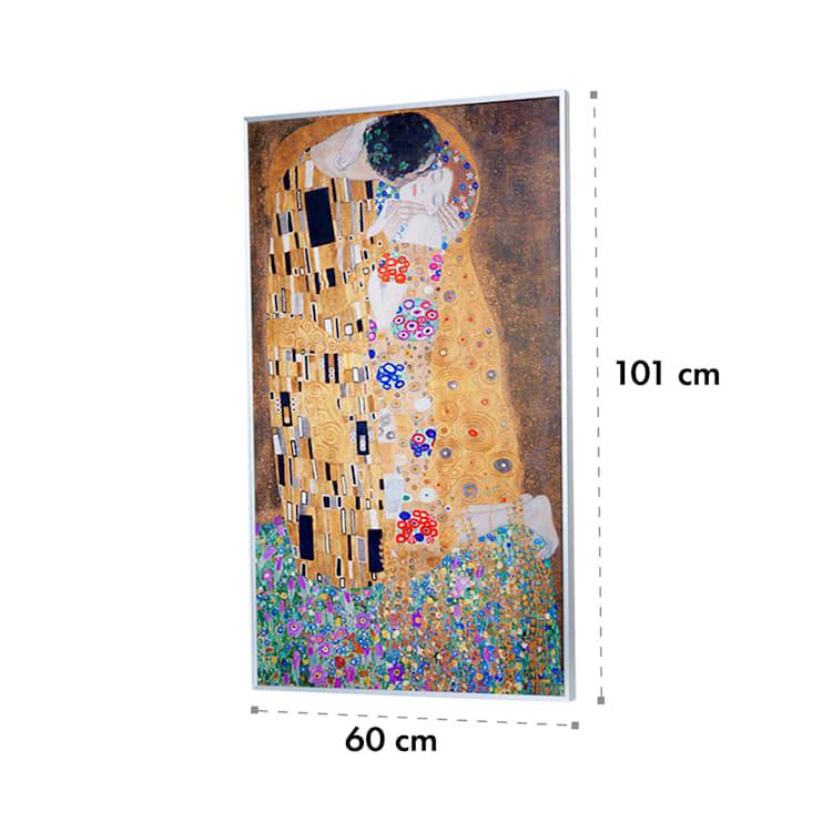 Wonderwall Air Art Kiss, infravörös melegítő, 60 x 101 cm, 600 W, falra szerelhető Csók felületének dizájnja