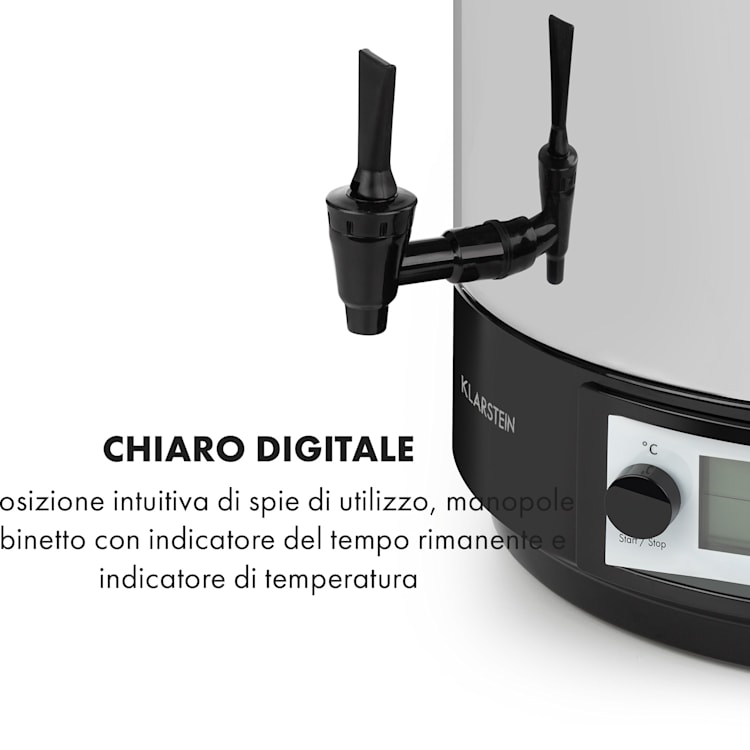 KonfiStar 40 Digital Pastorizzatore e Dispenser 40L 100°C 180min 40 Ltr