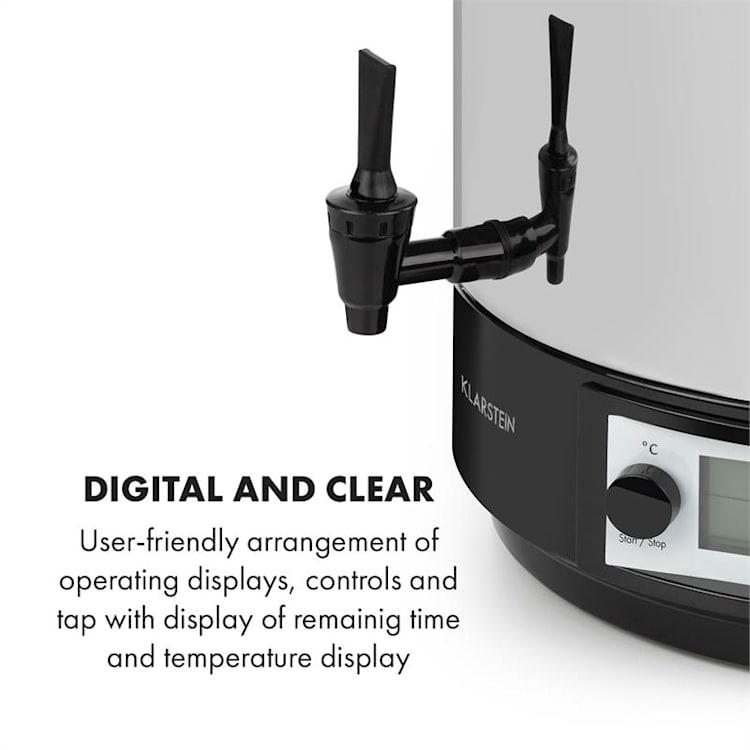 Konfistar 40, digital, fierbător și aparat de conservare, recipient pentru băuturi, 40L, 100 ° C, 180 min 40 Ltr