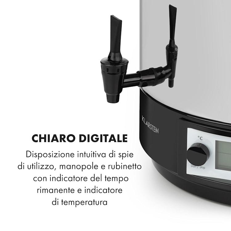 KonfiStar 50 Digital Pastorizzatore e Dispenser 50L 100°C 180min 50 Ltr
