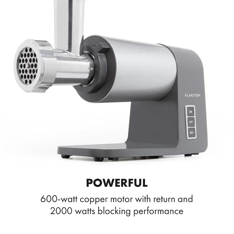 Mett Max Hachoir électrique 600W 3 disques perforés acier