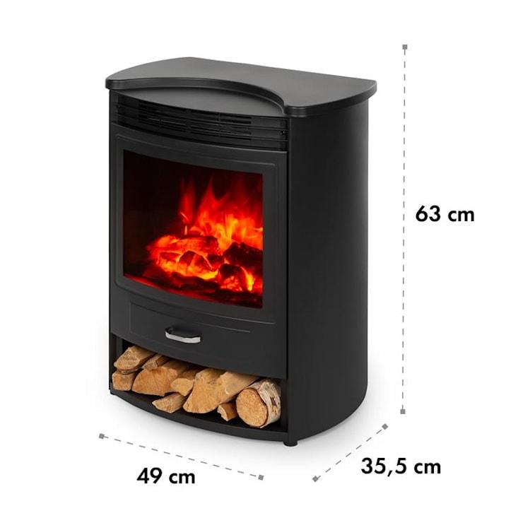 Bormio S Electric Fireplace 950 / 1900W Thermostat Weekly Timer Black Black