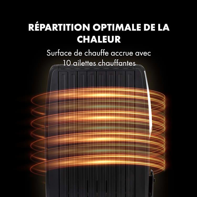 Thermaxx Noir olieradiator 2500W 10-30°C timer afstandsbediening zwart