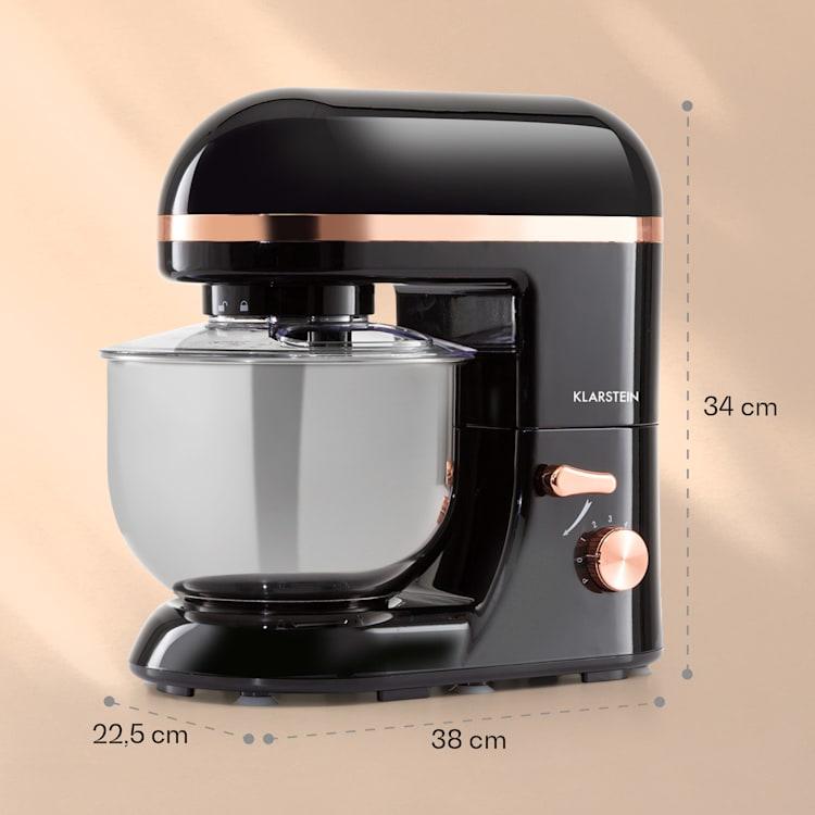 Bella Elegance, robot kuchenny, 1300 W, 1,7 HP, 6 stopni, 5 litrów, czarny Czarny