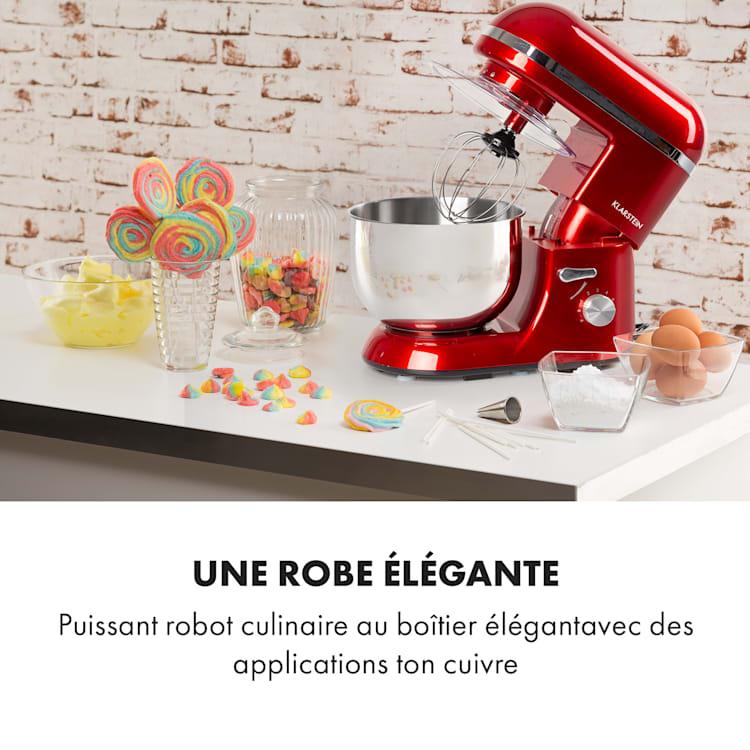 Bella Elegance Robot culinaire 2000 W / 2,7 ch 5,2 l Acier inoxydable sans BPA Rouge