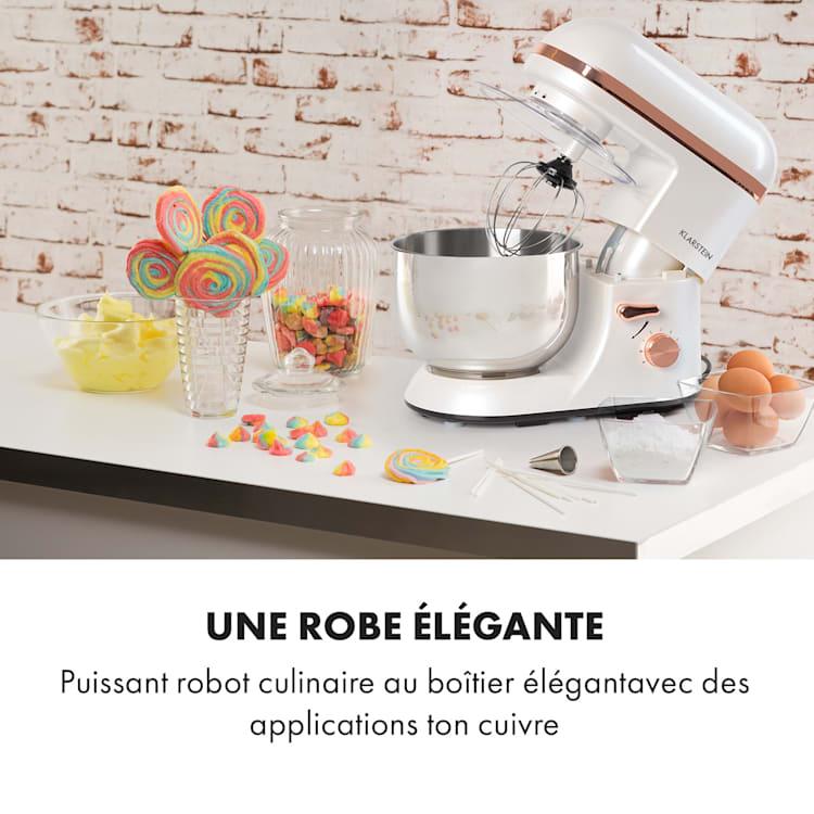 Bella Elegance Robot culinaire 2000 W / 2,7 ch 5,2 l Acier inoxydable sans BPA Blanc