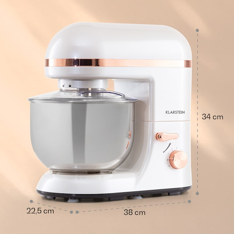Bella Elegance, kuhinjski robot, 1300 W, 1,7 HP, 6 stopenj, 5 litrov, bela  Bela