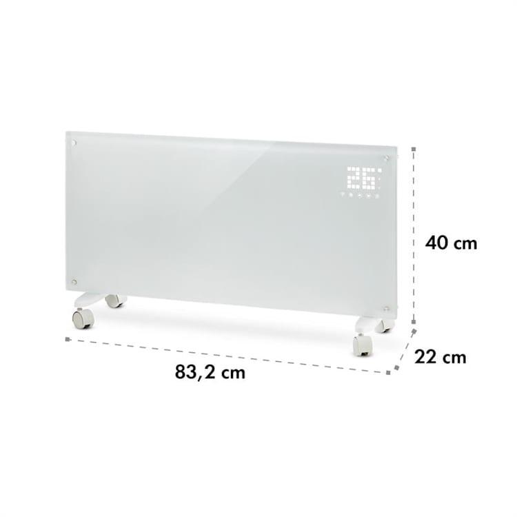 Bornholm Smart Konvektions-Heizgerät 2000W WiFi LED-Display Timer IP24 Standgerät Wandinstallation Weiß
