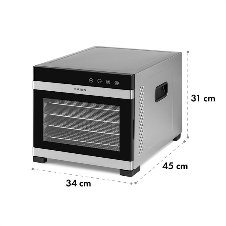 Flavor Dry Dehydrator 35-75 ° C LCD Touch Display Timer black