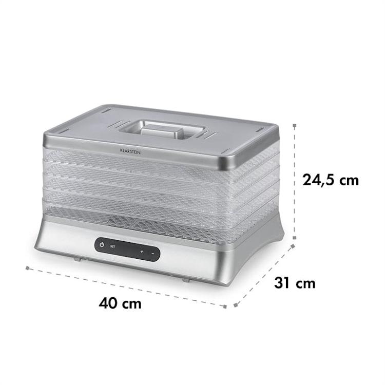 Silver, szárítógép, 500 W, LED kijelző, BPA nélkül, 35 – 70 °C, ezüstszínű