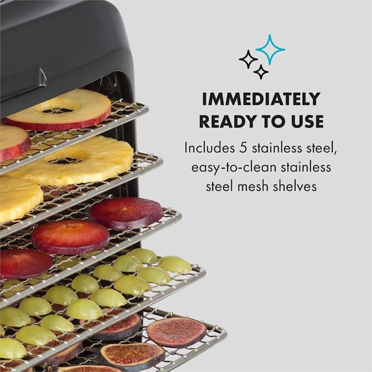Florida Jerky voedseldroger infrarood 500W 4 programma's zwart
