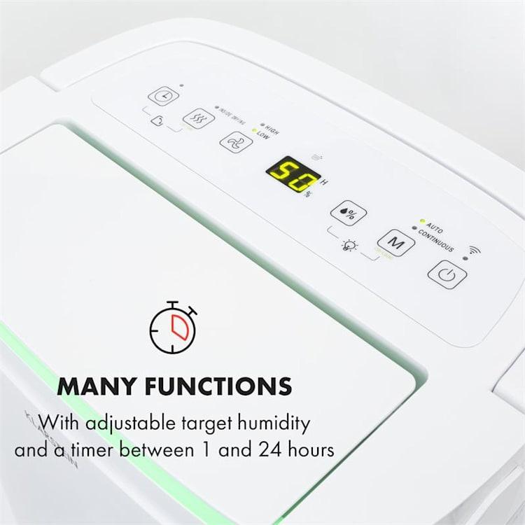 DryFy Connect 50, osuszacz powietrza, Wi-Fi, kompresja, 50 l/24 h, 45–55 m2, biały 50l/24h