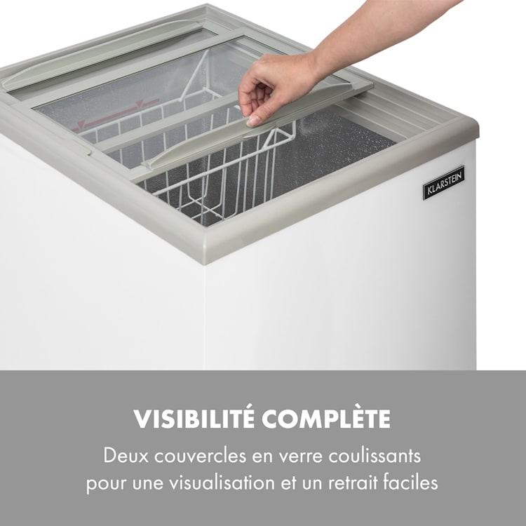 Pro Eispalast Congélateur coffre 60L pose libre porte vitrée - Blanc 60 L