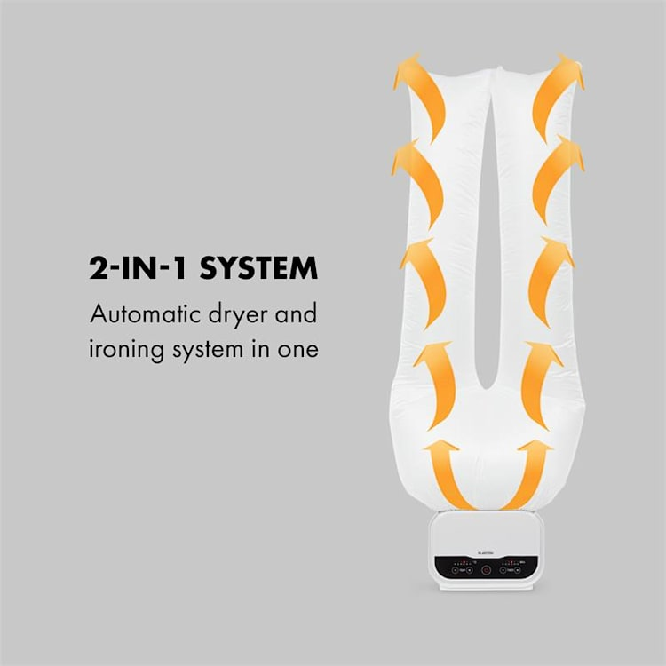 ShirtButler Pro automatisch droogsysteem 1200 W 2-in-1 70 °C timer