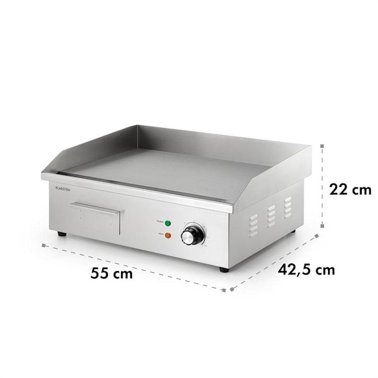 Grillmeile 3000G Elektrogrill 3000W Grillplatte 54,5x35cm glatt Glatte Grillfläche