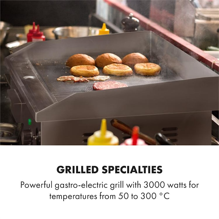 Grillmeile 3000GR Elektrogrill 3000W 54,5x35cm glatt/geriffelt Glatte und geriffelte Grillfläche
