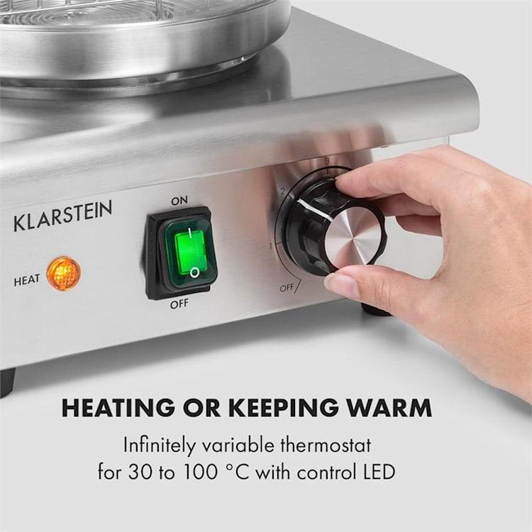 Wurstfabrik 450, hotdogovač, 450 W, 5l, 30 - 100°C, sklo, ušlechtilá ocel 450 W