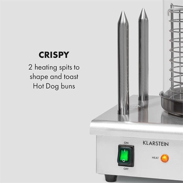 Wurstfabrik Pro 550 Hot Dog Maker 550W 2 Heizspieße 5L 30-100°C Glas Edelstahl 550 W