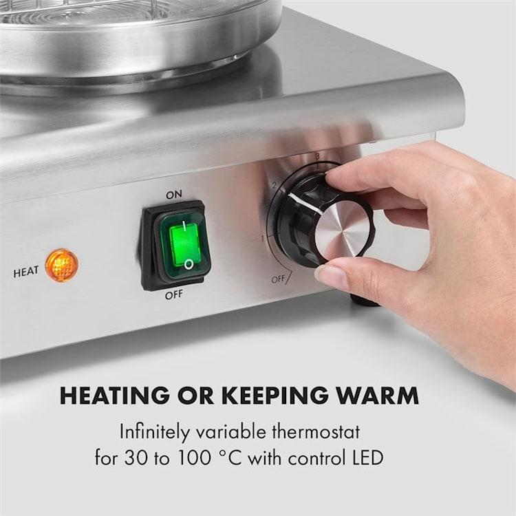 Wurstfabrik 600 Hot Dog Maker 600W 3 Heizspieße 5L 30-100°C Glas Edelstahl 600 W
