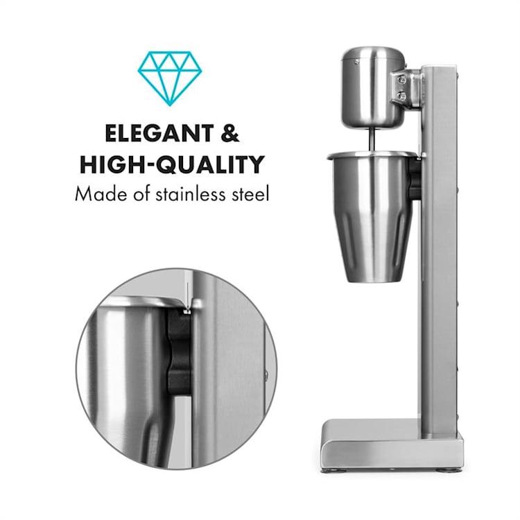 Pro robusto frullatore per milkshake frappé proteici 80W acciaio inox argento 80 W