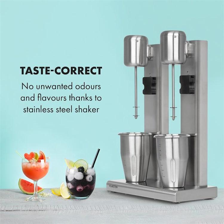 Kraftpaket II, mixer dublu pentru cocktail-uri de lapte, cocktail-uri de proteine, 160 W, oțel inoxidabil 160 W