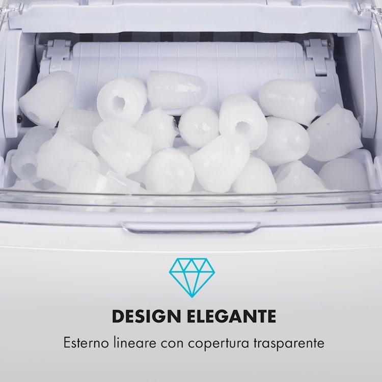 Coolio macchina per cubetti di ghiaccio - ghiaccio trasparente 20kg/24h serbatoio: 2,8 l bianco