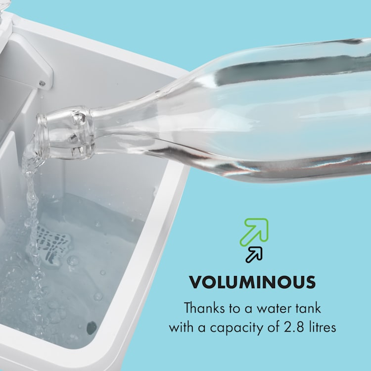 Coolio Ice Cube Machine Clear Ice 20kg/24h Water Tank: 2.8 l white