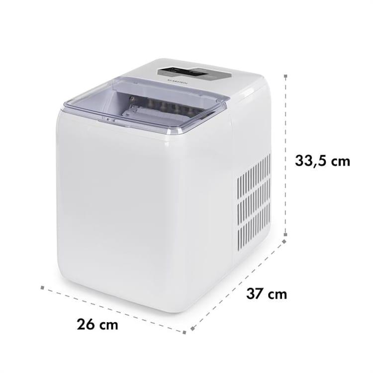 Coolio уред за лед, прозрачен лед, 20кг / 24ч, резервоар за вода: 2,8 л, бял