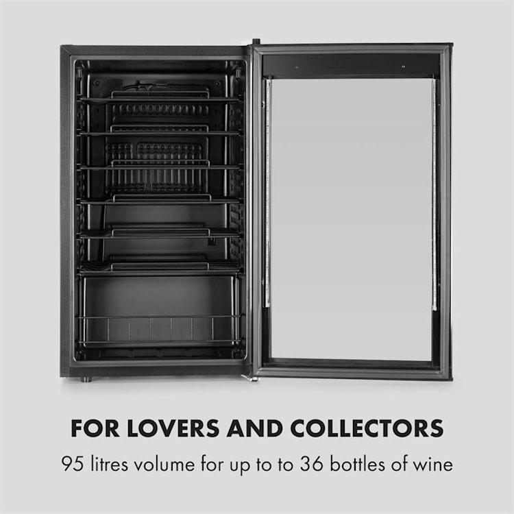 Vinomatica, chladnička na víno, 95L, dotykové ovládání, 85W, 4-18°C, černá