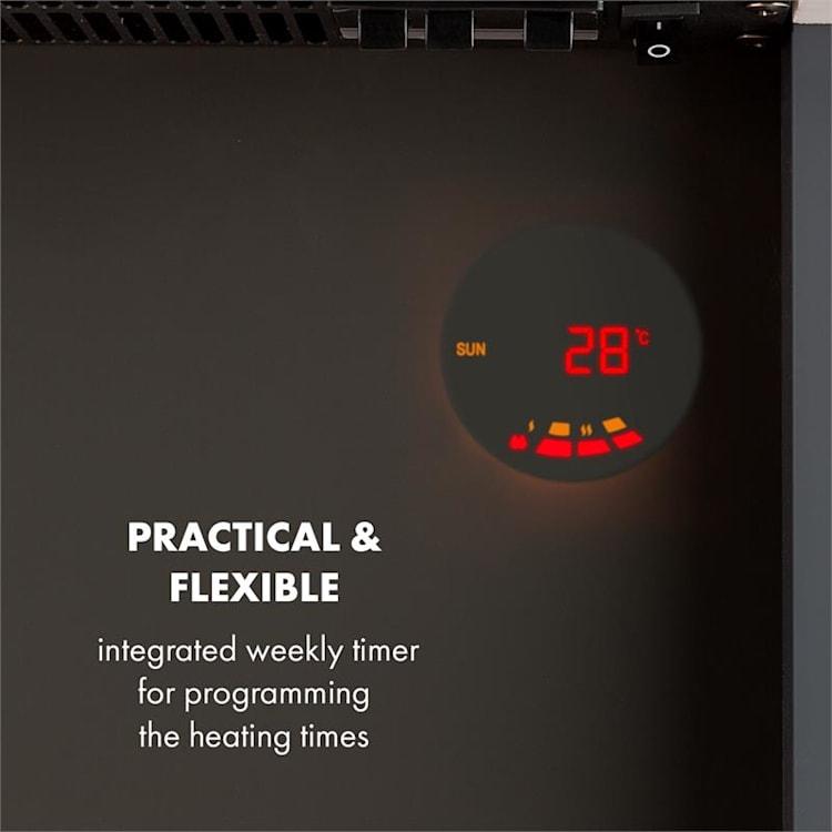 Studio 1, elektrický krb, 1000/2000 W, LED, 10 – 30 °C, týždenný časovač
