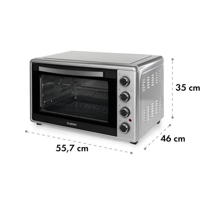 Masterchef 45 Mini Oven 45l 2000W 100-230 ° C Timer Silver Silver   45 Ltr